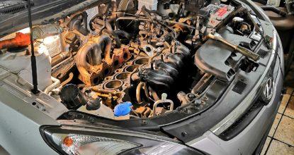 Замена моторной цепи, ремонт ГБЦ